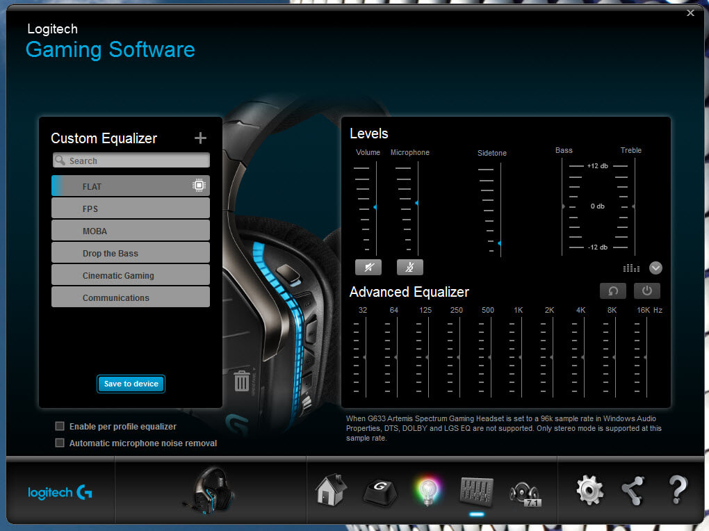 Logitech Gaming Software for G633