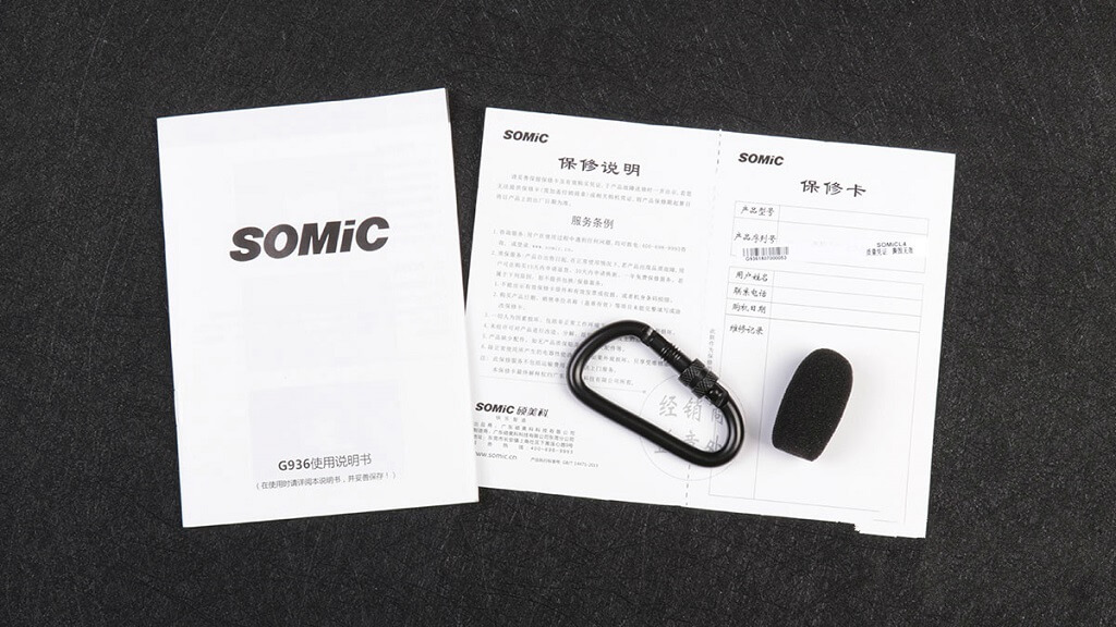 SOMIC G936 Accessories