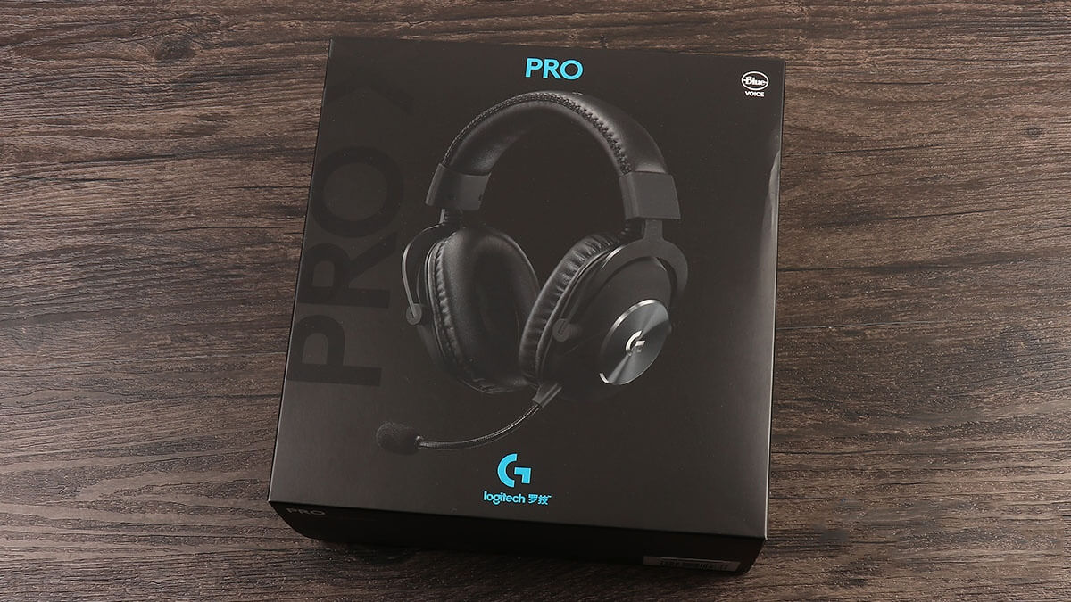 Front of Logitech G Pro X Packaging
