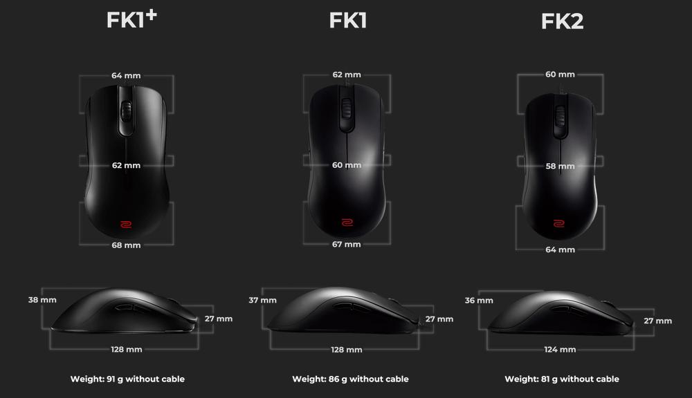 Zowie FK2 Size